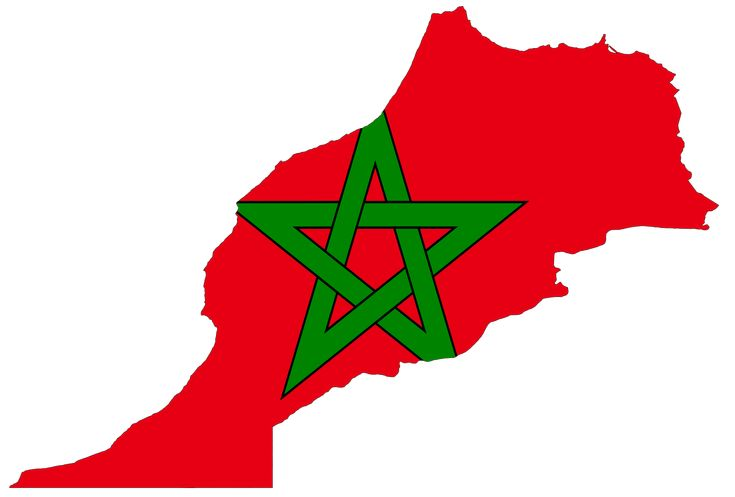 Morocco Flag Map 1 large map
