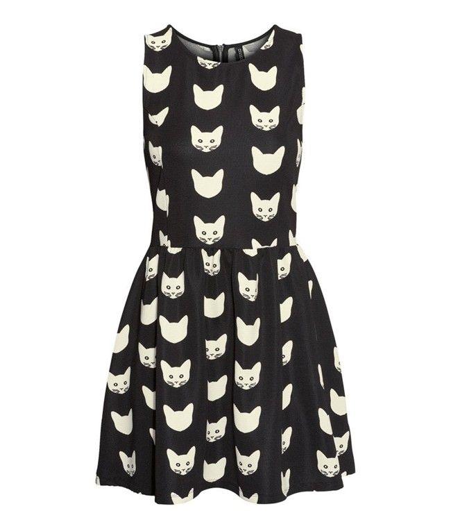 vestidos con estampado de gatos - Buscar con Google
