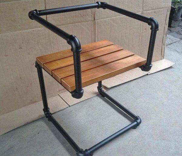 Black Pipe Chair Pipe Furniture Pipe Furniture Industrial