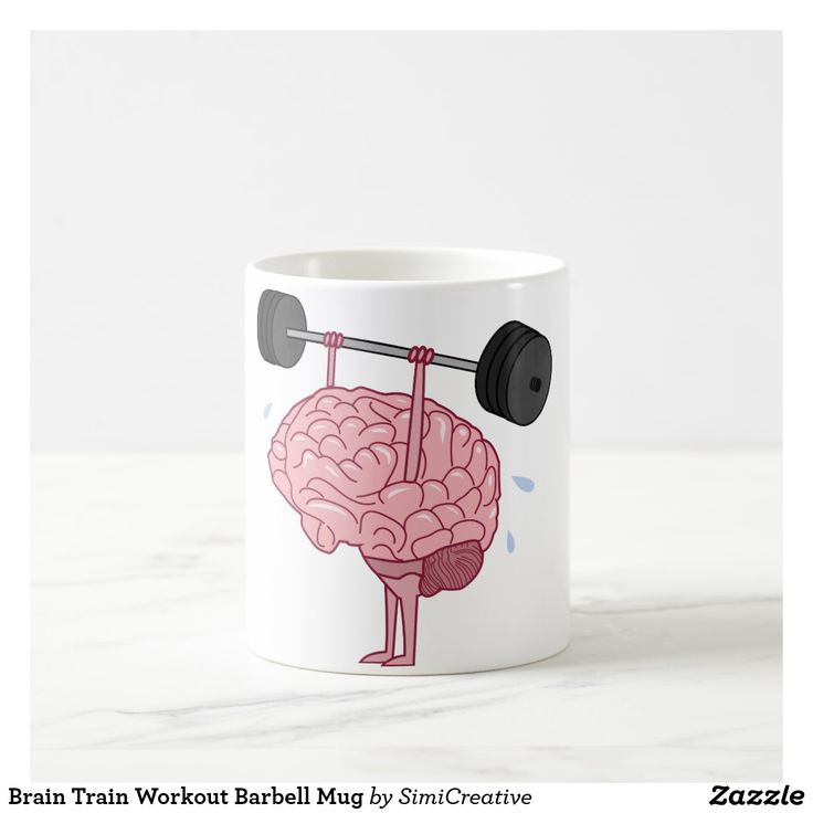 Brain Train Workout Barbell Mug