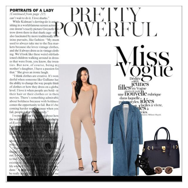 """autumn baddie #2"" by kiwijulin on Polyvore featuring Sandy Liang and Illesteva"
