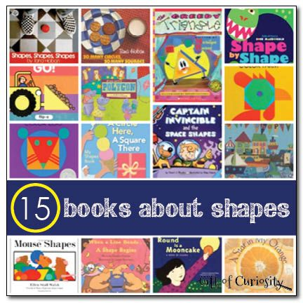 15 books about shapes - Gift of Curiosity