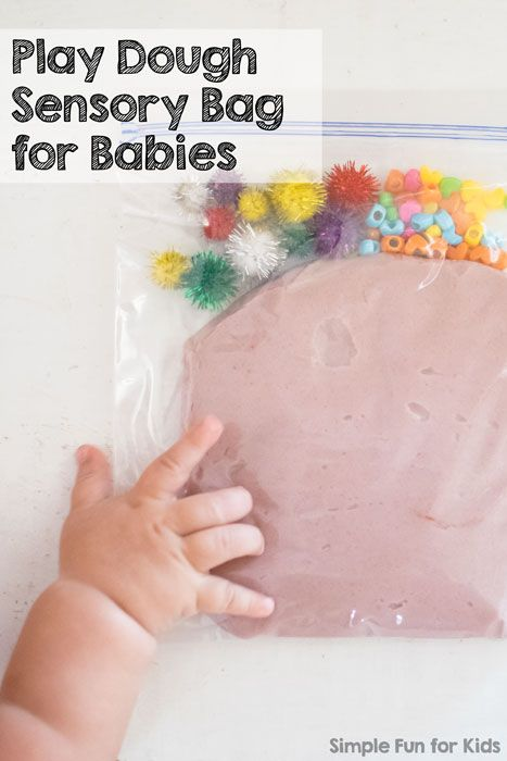 Sensory bags activities for babies and play dough on pinterest