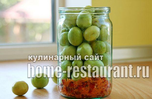 Маринованные зеленые помидоры с аджикой фото_06