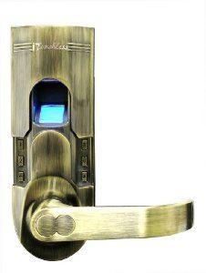 Delightful ITouchless Bio Matic Fingerprint Door Lock, Antique Brass, Left Handle
