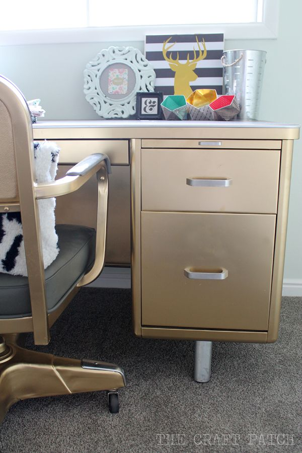 The Craft Patch: Vintage Tanker Desk Makeover                                                                                                                                                     More