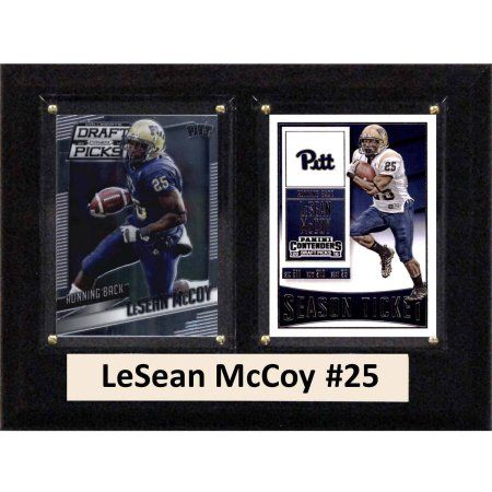 C & I Collectables Ncaa 6 inch x 8 inch LeSean McCoy Pittsburgh Panthers 2 Card Plaque