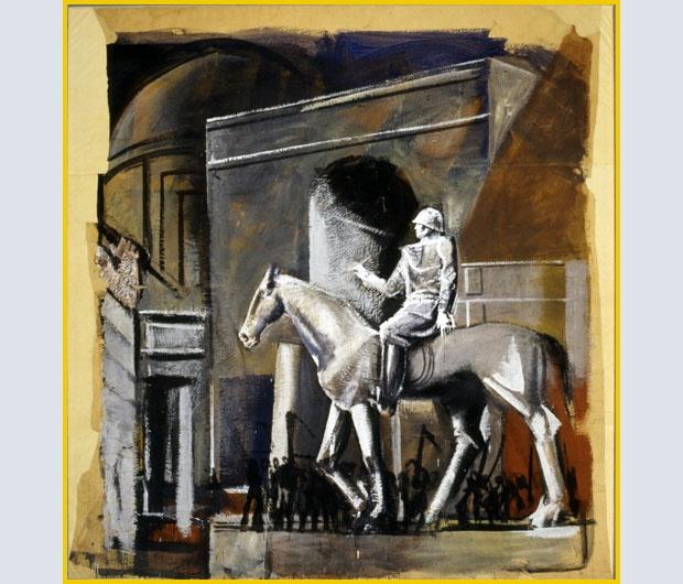 Mario Sironi: Condottiero a cavallo, (1934-1935). Mart, Archivio Collezione Romana Sironi. Dal 26 ottobre quest'opera verrà presentata nella mostra La magnifica ossessione