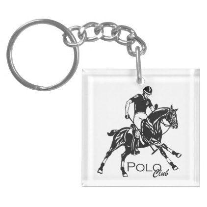 equestrian polo club keychain  $10.50  by insimalife  - custom gift idea