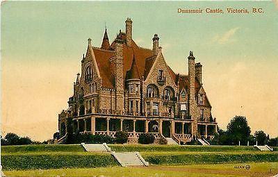 Victoria British Columbia Canada 1908 Dunsmuir Castle Antique Vintage Postcard