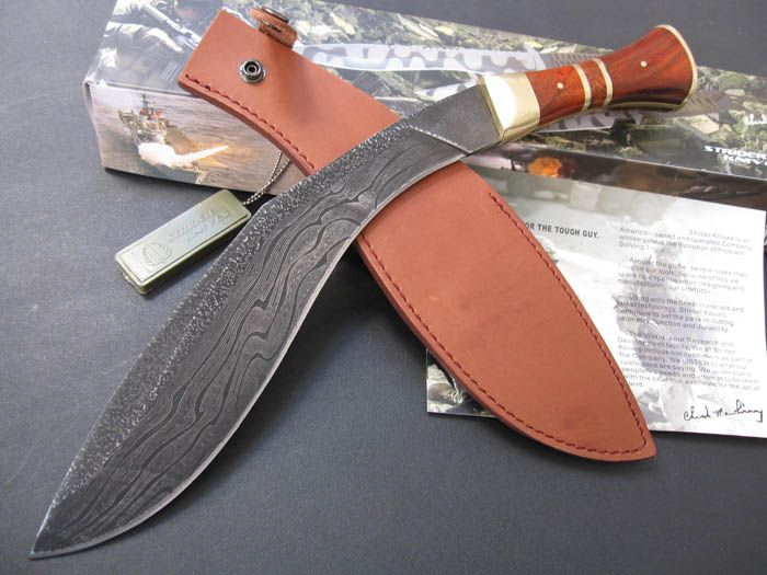 custom knives | Handmade Damascus Kukri Knife Big bowie, Canada Outdoor knives and ...