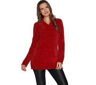 Susan Graver Modern Essentials Chenille V-Neck Sweater