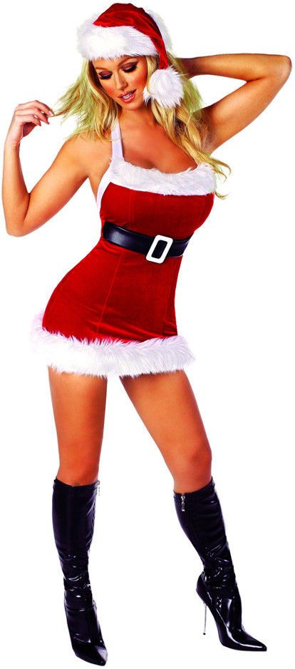 Sexy Seductive Hot Chic Santa Tight Dress Christmas Costume Adult Women # fashion #clothing #shoes #accessories #costumesreenactmenttheater #costumes  #ad ... - Sexy Seductive Hot Chic Santa Tight Dress Christmas Costume Adult