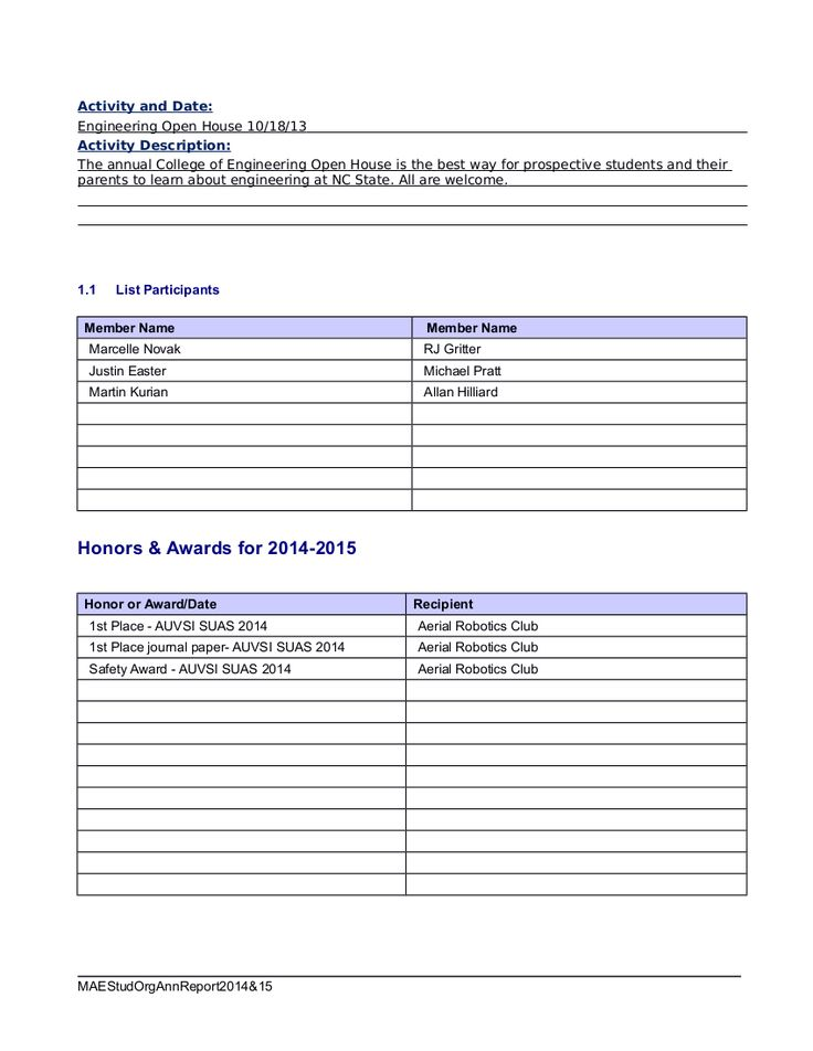 High Powered Rocketry Club Annual Report - Page 3 Student Club - house cleaner resume sample