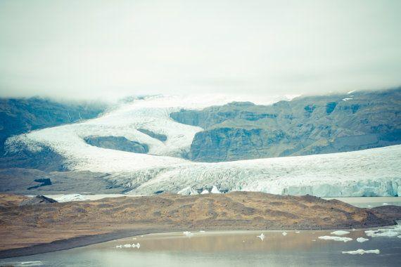 Iceland photography Nordic glacier Iceberg poster by eisforeero