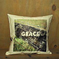 'Grace in the Country' Cushion.  Original photography taken on my parents' farm. Designed and Printed in Australia. (C) DESIGN FELICE 2015 http://www.designfelice.com.au/collections/country-australian-cushions