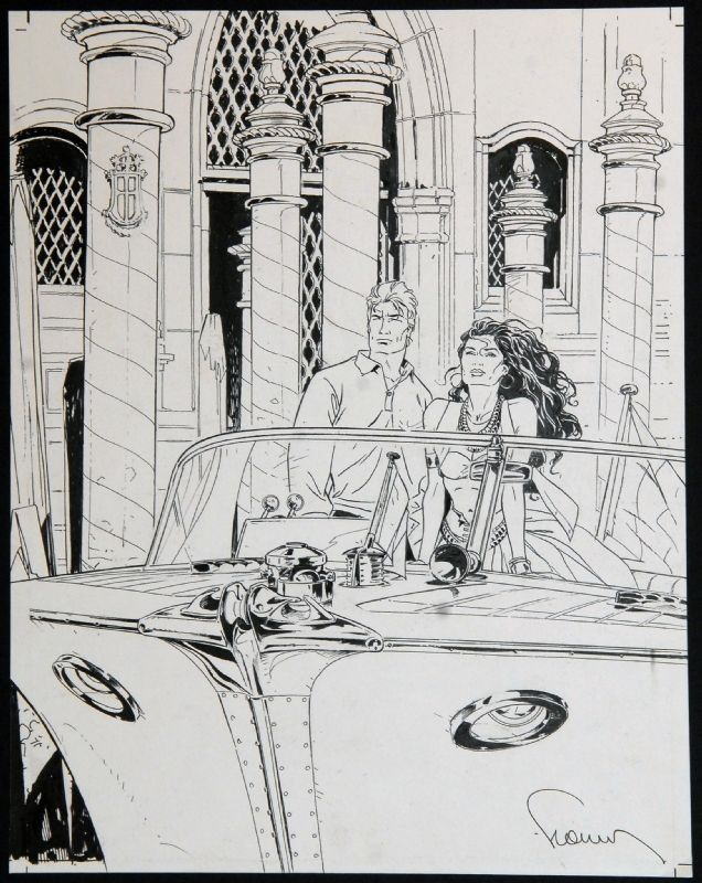 Phillipe Francq | Jean Van Hamme  - Largo Winch Comic Art