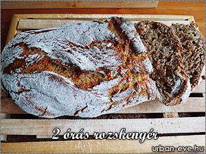 A dicsőség megint Vikit illeti, a fehérlisztes 2 órás kenyér után a teljes kiőrlésű változatát is többszörösen teszteltük és felvettük a repertoárba. A hozzávalók annyiban különböznek, hogy egy picit több folyadék kell hozzá a t.k. liszt miatt, de más változtatás nincs.