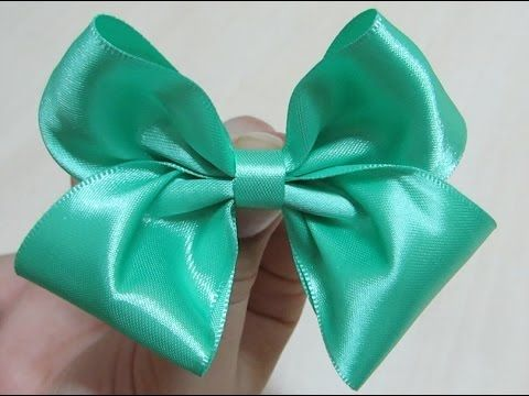 Laço Boutique Sem pontas - Passo a passo (o jeito mais fácil) - How to make a boutique bow - YouTube