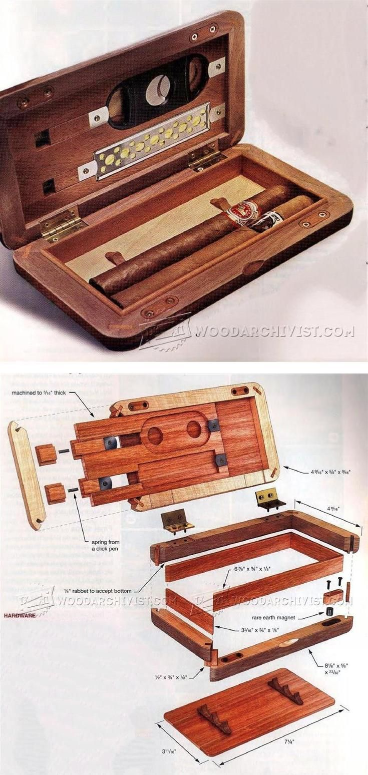 Pocket Humidor Plans - Woodworking Plans and Projects | WoodArchivist.com