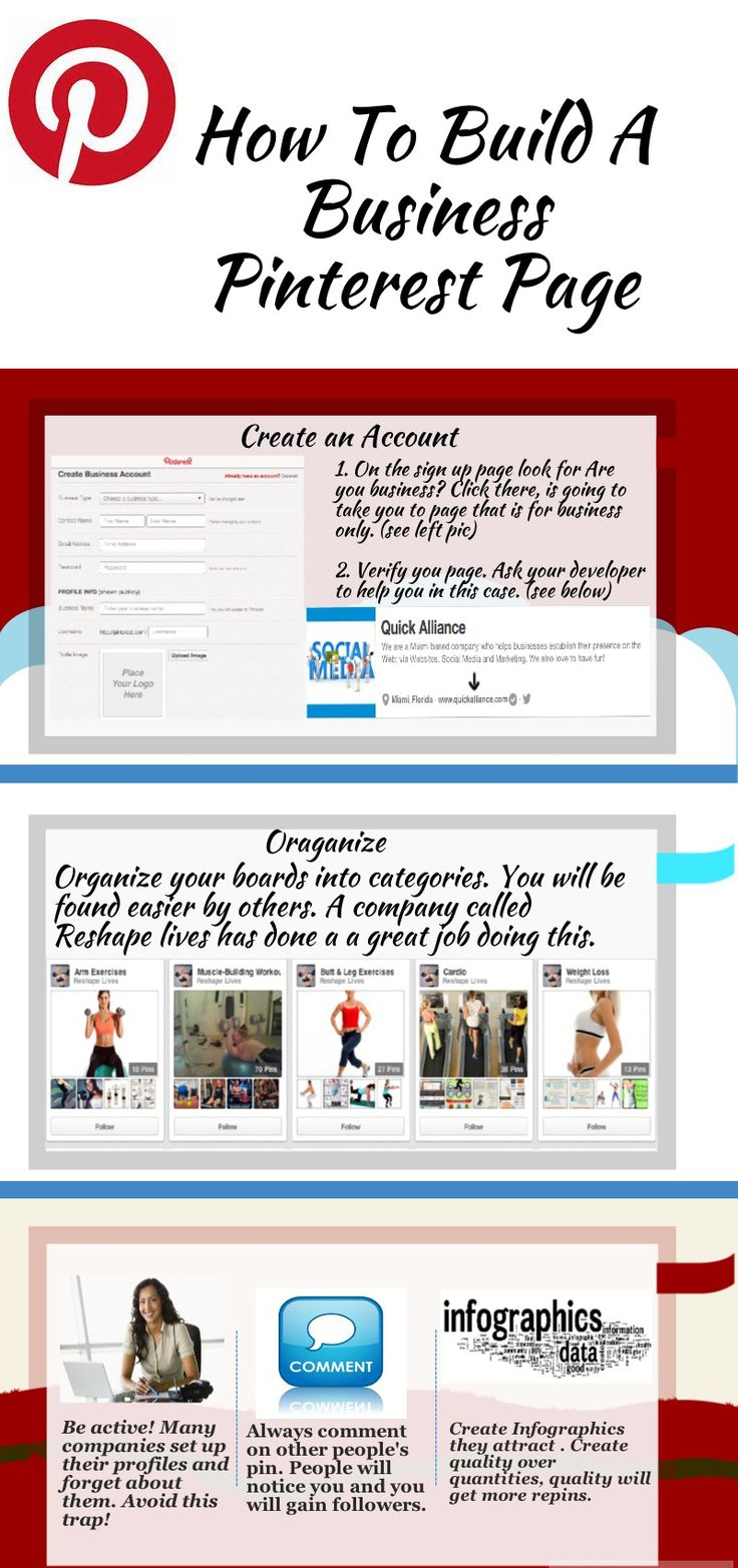 How to build a business pinterest page. REPIN if you like! #socialmedia #pinterest #pinterestmarketingtips