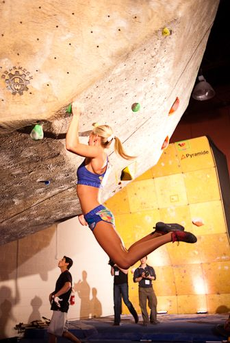 bouldering - it's just doing pull-ups. with style! www.schoolanduniversity.com