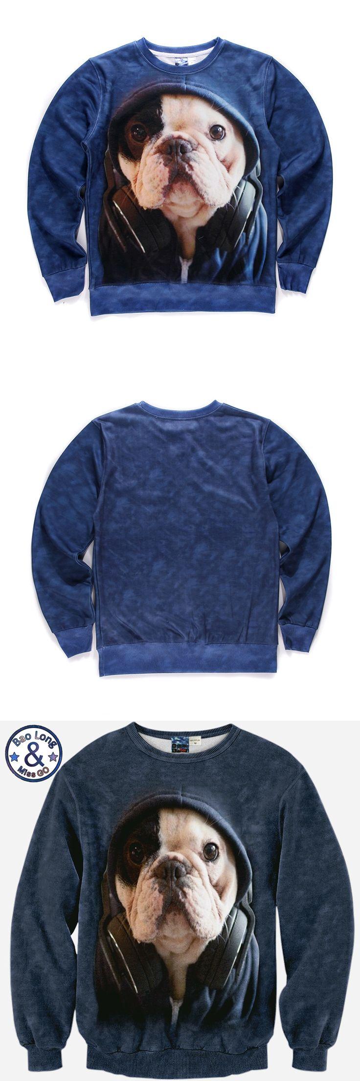 Mr.BaoLong New Autumn Winter Men/Women Sweatshirt Long Sleeve Fleece 3d Dog Print Hoodies Harajuku WH50 S-XL