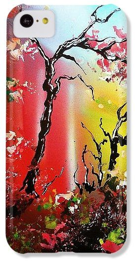 Inner Light IPhone 5c Case Printed with Fine Art spray painting image Inner Light by Nandor Molnar (When you visit the Shop, change the orientation, background color and image size as you wish)