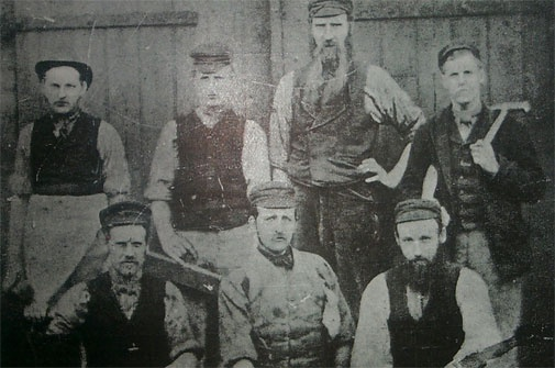 Early tradesmen from Ashington pit, 1923  