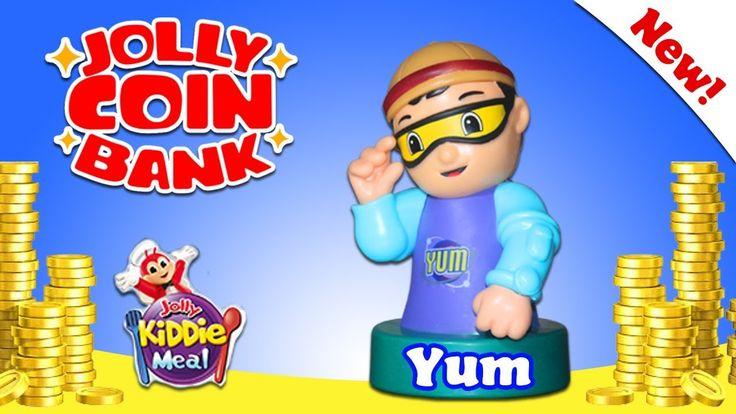 JOLLY COIN BANK - Jolly Kiddie Meal - YUM - Jollitown Friends - Hershey'...