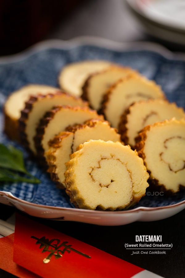 Datemaki (Sweet Rolled Omelette) with video how to make this simple and delicious omelette. #japanesefood @JustOneCookbook (Nami)