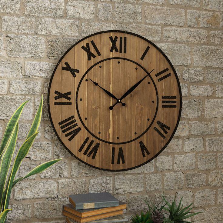 25 best Oversized wall clocks ideas on Pinterest Rustic wall
