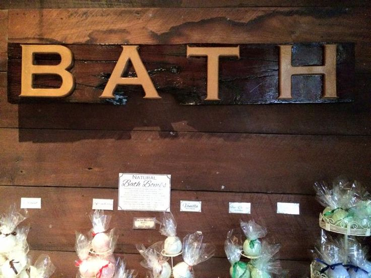 Our new Bath sign made by the Soap Master himself  https://www.facebook.com/MoonHavenNatural/photos/a.10152171226349425.1073741828.281140029424/10153388600924425/?type=1