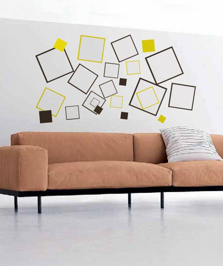 Cuadros vinilo adhesivo decoraci n de paredes dise os geom tricos cop encuentra - Decoracion paredes vinilos adhesivos ...