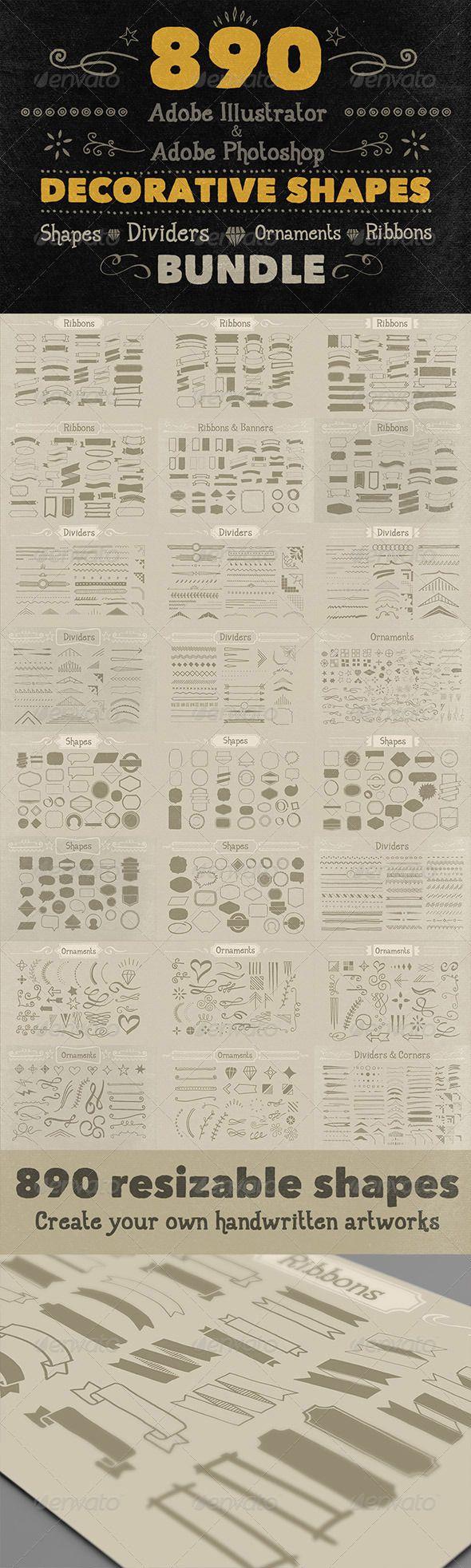 890 Handwritten Shapes - Bundle - http://graphicriver.net/item/890-handwritten-shapes-bundle/6058111?ref=cruzine