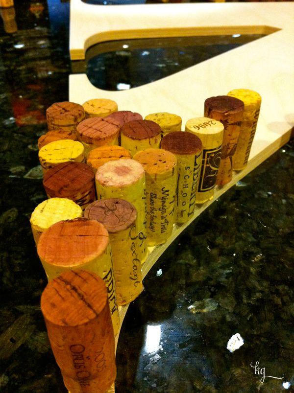 Wine Cork Monogrammed Letter