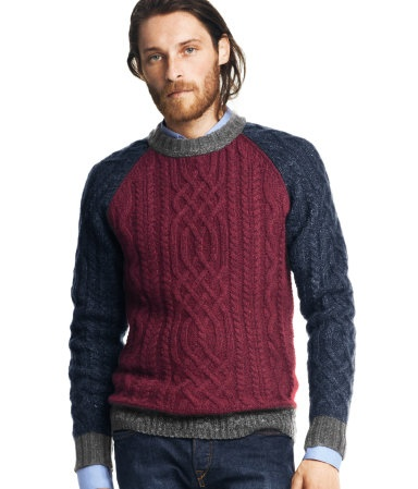 Its my husband!!! dreamy kevin modeling!!!! Pattern-knit jumper - Hennes & Mauritz