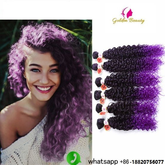 25 best synthetic weave images on pinterest curls black women 14 18inch 6pcspack jerry curl synthetic weave ombre purple one pack pmusecretfo Images