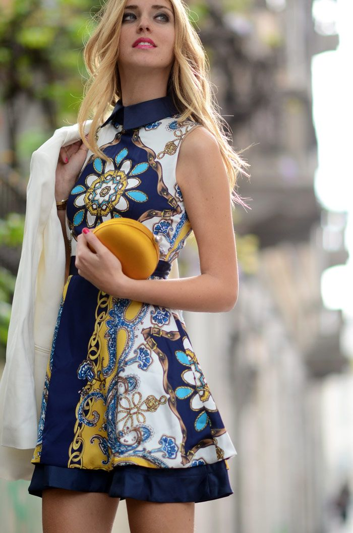 .Floral Prints, Fashion Clothing, Fashion Style, Summer Style, Bold Prints, Chiara Ferragni, The Dresses, Floral Dresses, Style Fashion