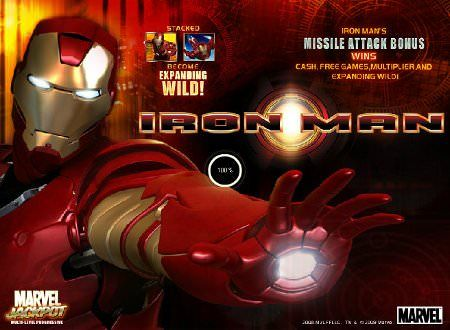 Play the awesome video slot game from Playtech Iron Man slots machine and unlock free games and spins, shoot down missiles and win cash prizes.