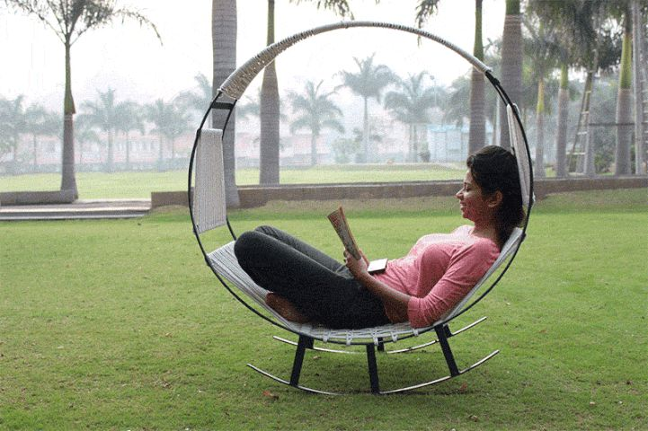Relaxing Outdoor Seating Combines A Hammock With A Rocking
