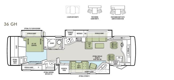 2013 phaeton floor plan 36 gh tiffin motorhomes rv motorhome rv dreams