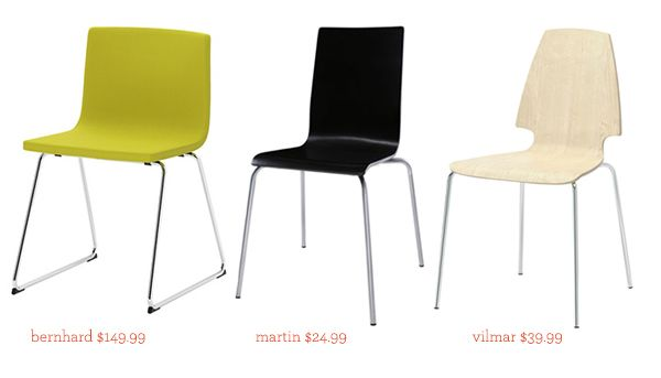Ikea Berhard Chari  See That There: round up :: quest for the perfect dining chair