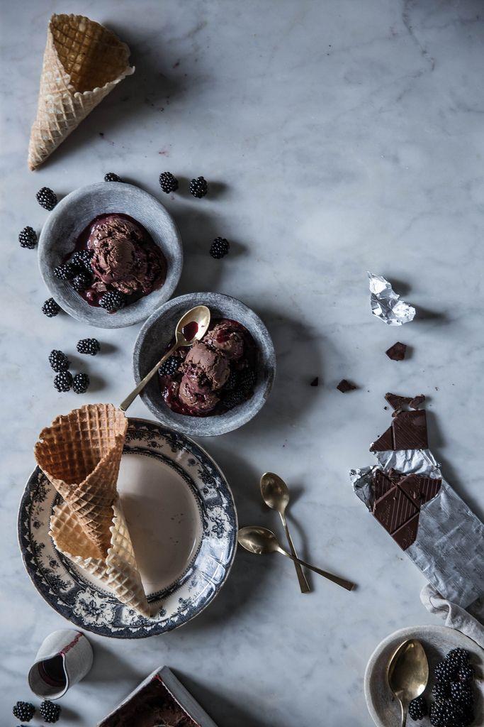 Local Milk | blackberry chocolate truffle ice cream.: