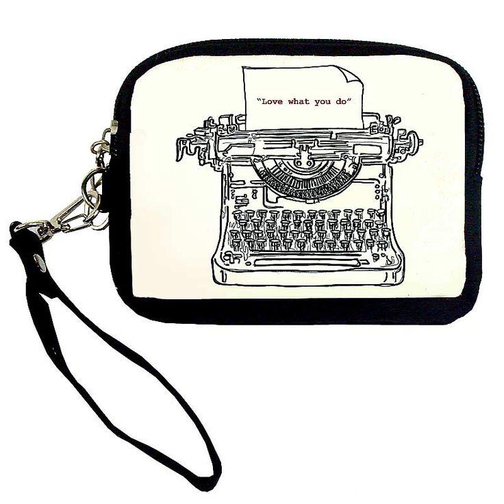 "Small ""Typewriter"" Canvas Bag"