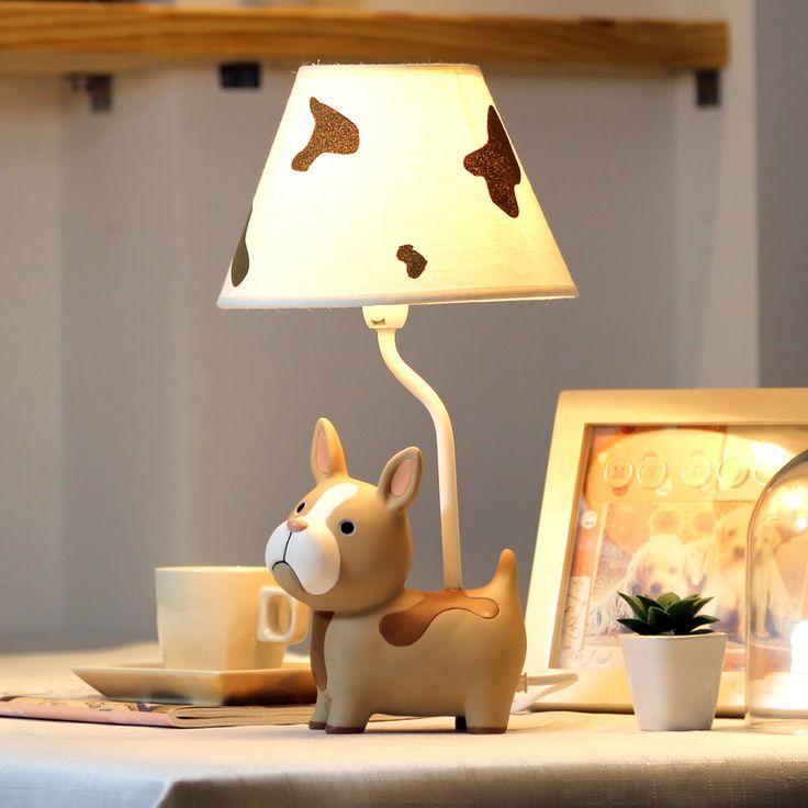 The Table Lamps Warm Bedroom Bedside Lamp Creative Adjustable Light  Children Cute Dog Student Gift Method