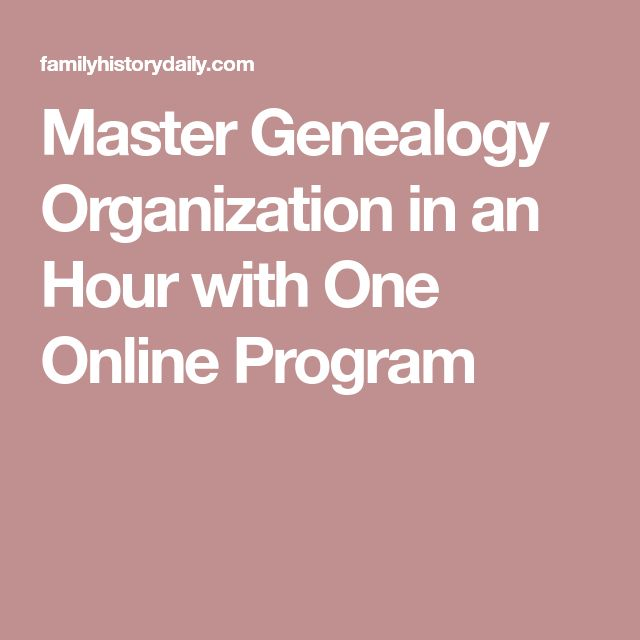 Master Genealogy Organization in an Hour with One Online Program