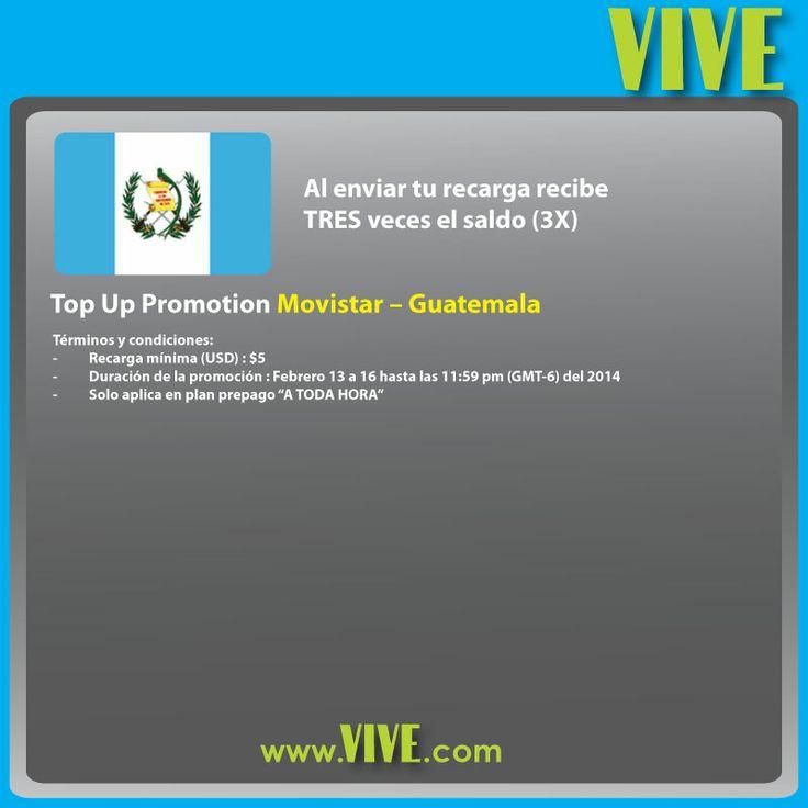 En el día de los #enamorados, #VIVE te ofrece muchas #promociones para que mandes un poco de #amor a tus seres queridos ! #Guatemala Visita www.vive.com!