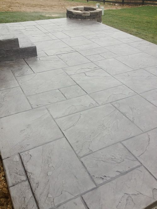 Dublin Ohio Stamped Concrete Patio Project | Custom Concrete Plus