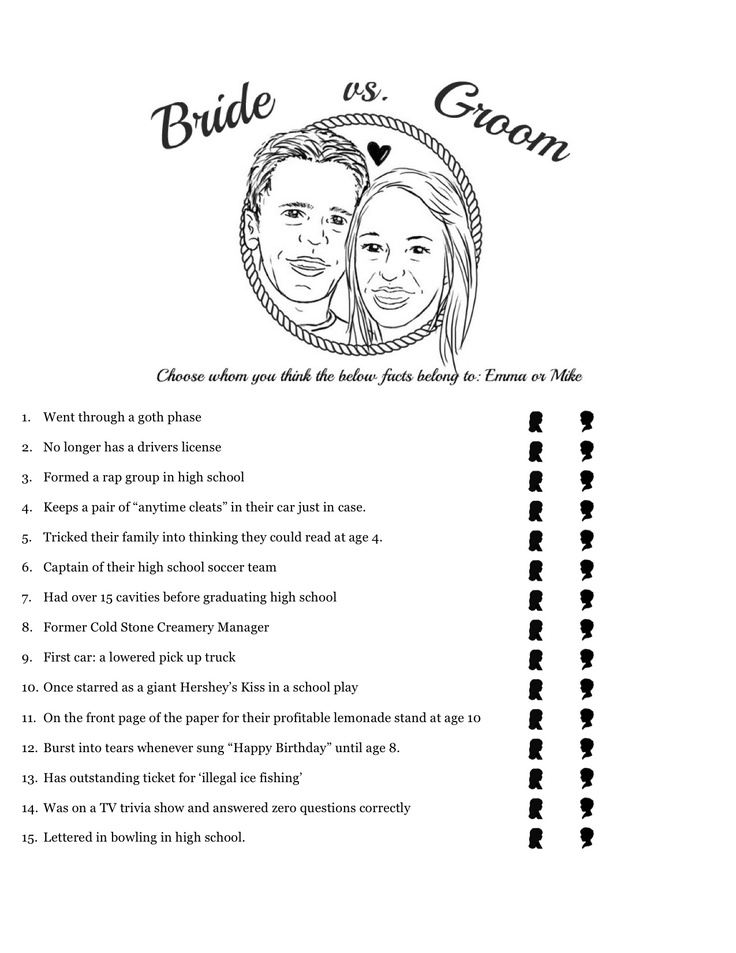Bride v Groom Bachelorette Party Game  #bachelorette #games #bridalshowerGrooms Parties, Games Bridalshower, Bachelorette Parties Games, Grooms Bachelorette, Games Bachelorette, Bachelorette Party Games, Grooms Games, Bridal Shower Games, Bachelorette Games